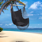 Hanging Hammock Swing Chair With Two Seat Cushions Outdoor Indoor Garden Patio