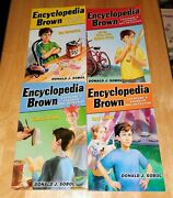 Lot Of 4 Encyclopedia Brown First 4 Paperback Books 2007 By Donald J. Sobol