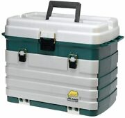 Fishing Tackle Box 4 Drawer Rack System With Large Bulk And Side Tool Storage