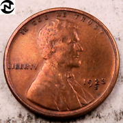 1923-s Lincoln Wheat Penny Cent // Choice Bu Red // W941