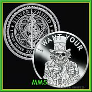 2020 1oz Uncle Fear Proof Silver Shield Minimintage I Want Your Freedom Low Coa