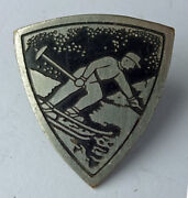 Down Hill Skiing - Old Pin Badge Norway