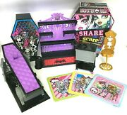 Mixed Lot Monster High Dolland039s Playset Furniture Puzzles And Share Or Scare Game