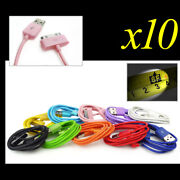 10x 10-color 6ft Usb 30pin Cable Data Sync Power Charger For Galaxy Tab Note