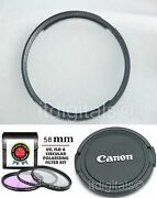 Filter Set Uv Cpl Fld / Adapter / Front Lens Cap For Canon Powershot Sx30 Is Uands