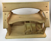 Natural Wooden Toy Stable Waldorf Wooden Stable Toy Barn