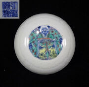 Antique Chinese Rare Hand Painting Porcelain Jewelry Cover Box Marked Qianlong