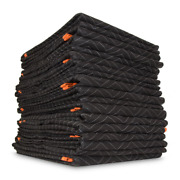 Padded Moving Blankets 72 In. X 80 In. Polyester Heavy-duty 12-pack