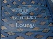 Bentley Motors Badge Sign Clear Glass Lounge Sign