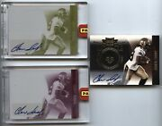 2010 Print Plates And Patches Gold Auto 115 Chris Ivory Au Rc Lot /25 2x 1/1's