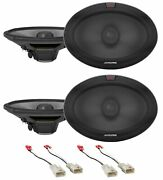 Alpine R 6x9 Front+rear Speaker Replacement Kit For 2002-06 Toyota Camry