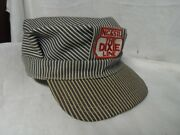 Railroad Engineer Hat N.c And St.l Made In U.s.a