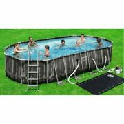 New Bestway Power Steel 22andrsquo X 12andrsquo X 48andrsquoandrsquo Above Ground Oval Pool Set With Pump