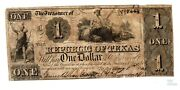1841 1 Republic Of Tx Obsolete Currency - Cancelled Pre Civil War