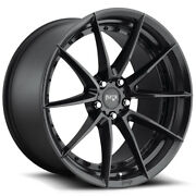 Staggered Niche M196 Sector Front 20x9 Rear 20x10.5 5x114.3 Black Wheels Rims