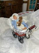 Byers Choice Baby And Carriage