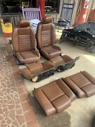 2010-2014 Ford Mustang Leather Front And Rear Seats. Drivers Seat Has A Tare