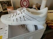 Ps821 Unisex Limited Edition By Streettrends Llc White Leather Low Top Sneakers