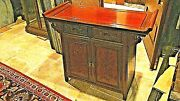 Antique Chinese Rosewood Hand Carved Blossom 2 Doors,2 Drawers Altar Cabinet
