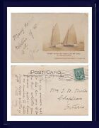 Canada's Cup Sailing Seneca Vs Adele 1907 Rochester New York 1908 To Chapleau