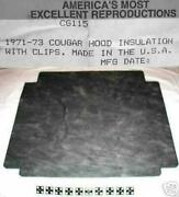 1971 - 1973 Cougar Hood Insulation Kit Includes Clips