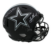 Troy Aikman And Michael Irvin Signed Dallas Cowboys Speed Authentic Eclipse Helmet