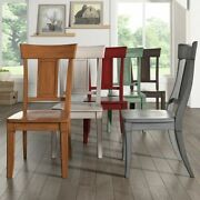 Eleanor Panel Back Wood Dining Chair Set Of 2 By Inspire Q