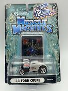 Muscle Machines Blvd Blasters 1933 Ford Coupe Black Widow White Free Shipping