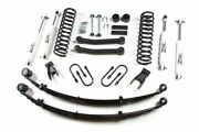 Zone Offroad J24n 4-1/2 Suspension System W/rear Leaf Springs For Jeep