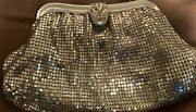 Vintage Whiting And Davis Silver Mesh Purse/evening Bag