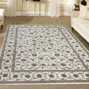 Admire Home Living Plaza Traditional Oriental Floral Scroll Bone 5'3 X 7'3/sur