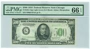 Fr2201-g 1934 500 Federal Reserve Note Chicago G00051814a Pmg 66 Epq Finest