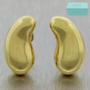 And Co. Elsa Peretti 18k Yellow Gold Extra Large Bean Clip-on Earrings