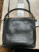 Ysl Sold Out Tag Croc Embossed Leather Hobo-nwt-sold Out-2590 Plus Tax-