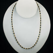 Sapphire Gemstone Chain 13.5ctw 18k Gold Bezel Set By The Yard Station Necklace