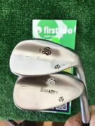 Scratch Japan Forged Wedge Set 55 And 60 With Rifle 6.5 Stiff Steel Shafts