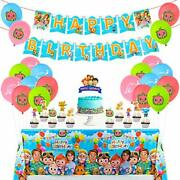 Cocomelon Birthday Party Decorations Supplies Kit For Kids W/banner Table Cover