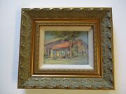 Antique Small Gem Early California Historic Home Landscape Impressionist 1930and039s