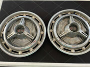 1969 70 Chevrolet Chevy Impala Chevelle Ss Hubcaps Wheel Covers Oem Pair