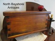 Antique 1800s New England Miniature Pine Wooden Dovetailed Blanket Chest Aafa