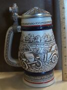 Avon Lidded Beer Stein Decanter, Classic Antique Automobiles, Model T, Mg, Bugat