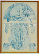 Alphonse Mucha Collotype Plate 18 From Figures Decoratives 1905