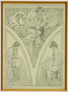 Alphonse Mucha Poster From Figures Decoratives 1905 Plate 1