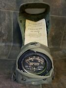 Vintage 1958 Army Radiacmeter With Case And Booklet