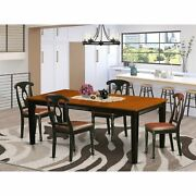 5-piece Dining Set With Leather And Wood Chair Finish Black Quke5-bch-lc