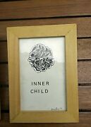 Melvin Bernstine Art Abstract Drawing 1998 Dated And Signed Inner Child