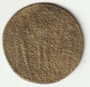 Gold Coin England 1700-1800 , Approx 28mm, 10 Grams, Year,still Fine Ws
