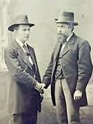 Antique 1800's Tin Type Gay Influence 2 Men Holding Hands Photo