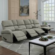 Copper Grove Herentals Grey Chenille 4-seat Recliner Sofa Grey Transitional Mod