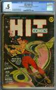 Hit Comics 5 Cgc 0.5 Cr/ow Pages // Classic Lou Fine Cover Art 1940